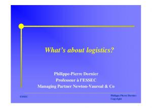 What s about logistics?