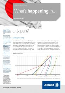 What s happening in. September Pension & Retirement Update. Japan s ageing society