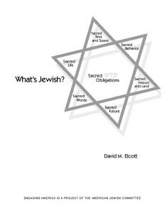 What s Jewish? David M. Elcott. Sacred. Obligations. Sacred. Life. Sacred Words. Sacred Future. Sacred. Behavior. Sacred. Time and Space