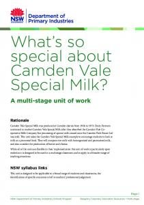 What s so special about Camden Vale Special Milk?