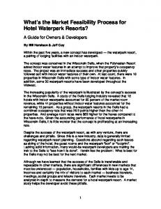 What s the Market Feasibility Process for Hotel Waterpark Resorts?