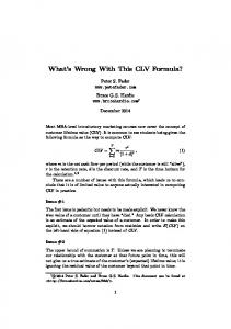What s Wrong With This CLV Formula?