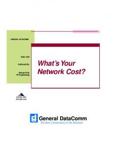 What s Your Network Cost?