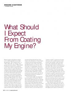 What Should I Expect From Coating My Engine?