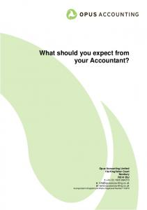 What should you expect from your Accountant?