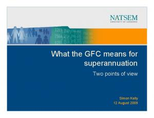 What the GFC means for superannuation