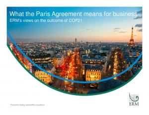 What the Paris Agreement means for business