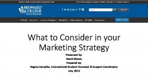 What to Consider in your Marketing Strategy