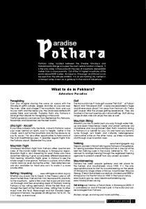 What to do in Pokhara?