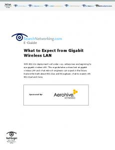 What to Expect from Gigabit Wireless LAN