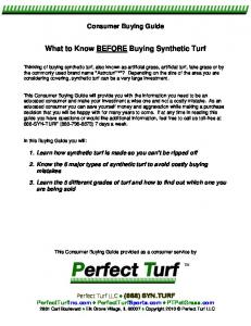 What to Know BEFORE Buying Synthetic Turf