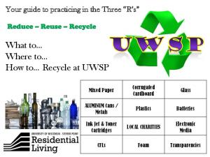 What to Where to How to Recycle at UWSP
