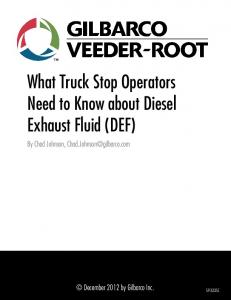 What Truck Stop Operators Need to Know about Diesel Exhaust Fluid (DEF)