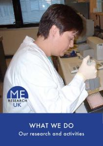 WHAT WE DO. Our research and activities