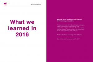 What we learned in 2016