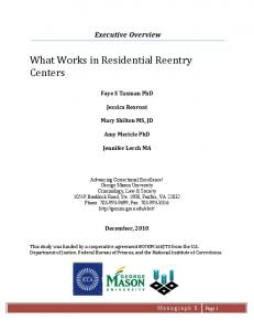What Works in Residential Reentry Centers