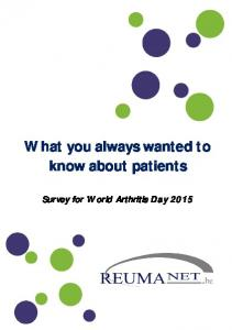What you always wanted to know about patients