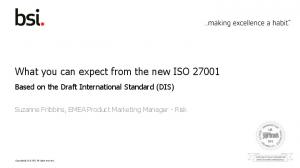 What you can expect from the new ISO 27001