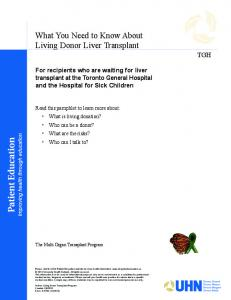 What You Need to Know About Living Donor Liver Transplant