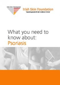 What you need to know about: Psoriasis