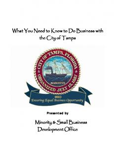 What You Need to Know to Do Business with the City of Tampa