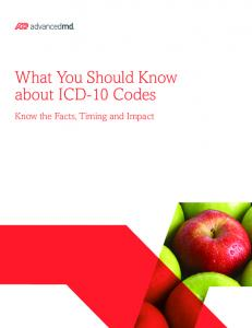 What You Should Know about ICD-10 Codes. Know the Facts, Timing and Impact