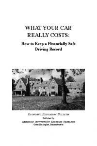 WHAT YOUR CAR REALLY COSTS: