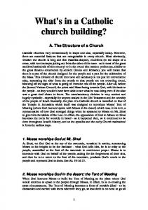 What's in a Catholic church building?