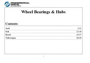 Wheel Bearings & Hubs Contents