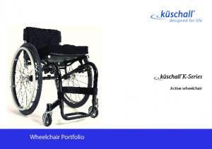 Wheelchair Portfolio. Active wheelchair