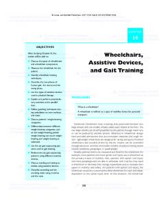 Wheelchairs, Assistive Devices, and Gait Training