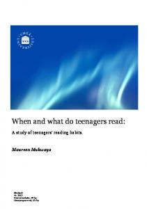 When and what do teenagers read: