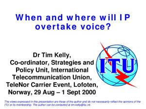 When and where will IP overtake voice?