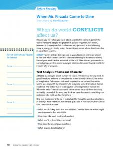 When do world CONFLICTS affect us?
