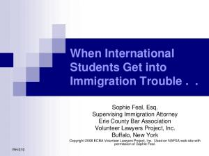 When International Students Get into Immigration Trouble