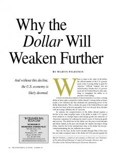 When it comes to the value of the dollar,