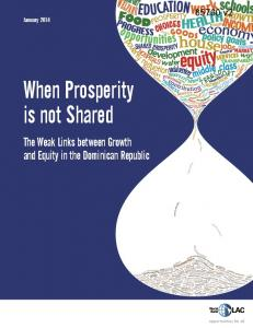 When Prosperity is not Shared