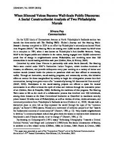 When Silenced Voices Become Wall-Scale Public Discourse: A Social Constructionist Analysis of Two Philadelphia Murals