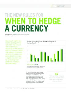 WHEN TO HEDGE A CURRENCY