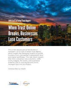 When Trust Online Breaks, Businesses Lose Customers