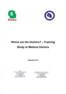 Where are the Doctors? - Tracking Study of Medical Doctors