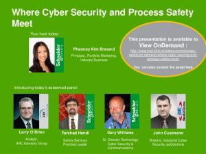 Where Cyber Security and Process Safety Meet