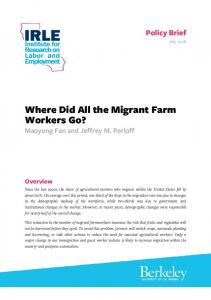 Where Did All the Migrant Farm Workers Go?