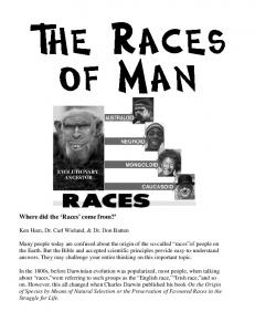 Where did the Races come from? Ken Ham, Dr. Carl Wieland, & Dr. Don Batten