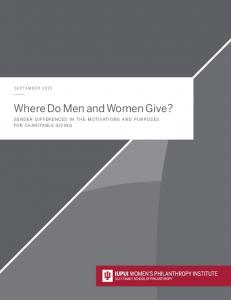 Where Do Men and Women Give?