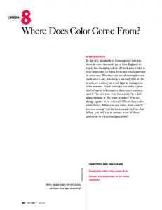 Where Does Color Come From?
