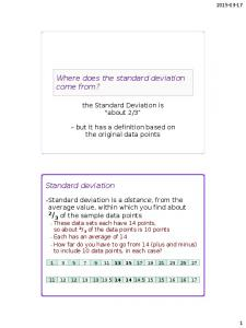 Where does the standard deviation come from?
