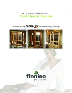 Where Health and Relaxation Meet... Far-Infrared Saunas. pure sauna