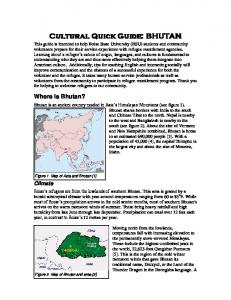 Where is Bhutan? Climate