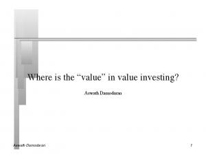 Where is the value in value investing?